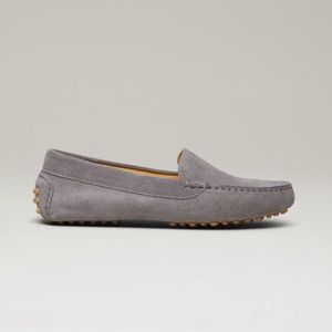 M. Gemi Felize Driver Loafer in Gray Suede EUC 7.5